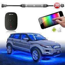 car led light strip app wifi controlled 20 strip led undercar under body underglow 180