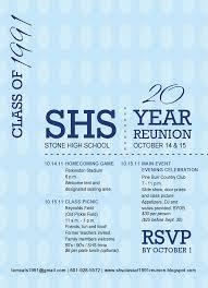 50th high school class reunion invitation high class of 1991 20 year reunion reunion invitation