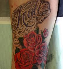 name tattoos with roses cool tattoos bonbaden