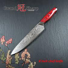 bon couteau de cuisine acheter grandsharp 67 couches japonais damas acier damas chef