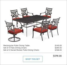 Swivel Rocker Patio Dining Sets Shop The Kingsmead Patio Collection On Lowes