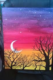 easy acrylic painting ideas trees google search paint ideas