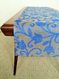 linen table runner in floral ornaments linen 4 you