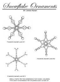 beaded snowflake ornaments beading snowflake