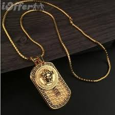 hip hop jewelry necklace images New mens 18k gold necklace hip hop jewelry dog tag for sale jpg