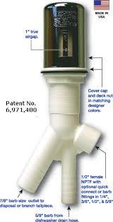 Fresh Water Systems Twin Inlet Air Gap DLATAG Dual Inlet AirGap - Kitchen sink air gap
