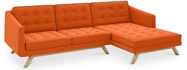 canapé d angle orange canapé d angle droit scandinave tissu orange carlos lestendances fr