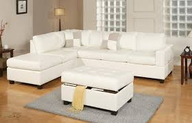 Leather Sofas Montreal Sacramento White Cream Leather Sectional Sofa With Left Facing