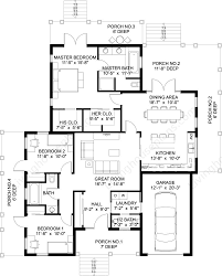 100 dream house blueprint plan 73369hs 5 bedroom sport