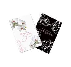wedding programs with pictures wedding bulletin wedding program paper