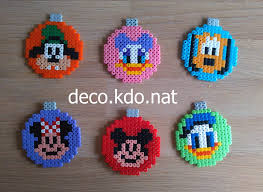 mickey mouse christmas baubles hama perler beads by deco kdo nat