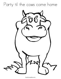 party til the cows come home coloring page twisty noodle