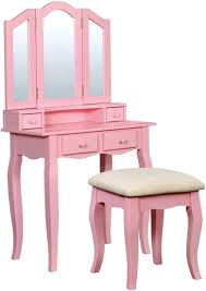 janelle pink vanity from furniture of america coleman furniture