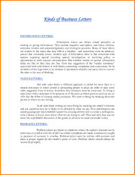 Business Sales Letter Example by Business Letter Types And Examples The Best Letter Sample