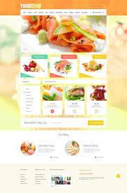 website template 52488 supermarket food online custom website