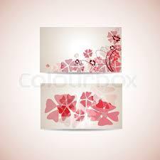 floral business card floral business card template stock vector colourbox