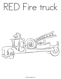 red fire truck coloring twisty noodle
