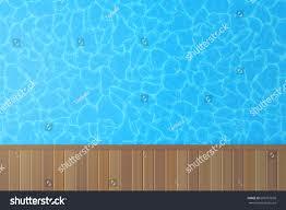 swimming pool blue water wooden floor stock vector 608757650