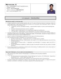 Electrical Engineer Resume Sample by Cv For Sitemanager