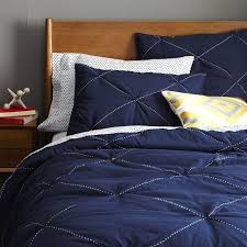 Navy Blue Coverlet Queen Pb Essential Quilt U0026 Sham Pottery Barn
