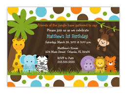 create easy jungle theme baby shower invitations designs