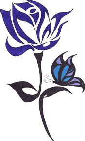 blue and butterfly tribal by dragonlover11 on deviantart