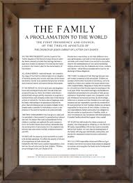 family proclamation family proclamation modern print the woods barn