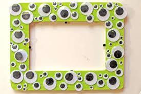 halloween googly eye frame kids crafts craftbits com