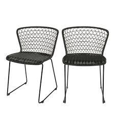 chaise de jardin chaises de jardin en corde x2 quadro drawer