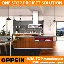 competitive kitchen design china oppein competitive price asia style wood grain pvc kitchen