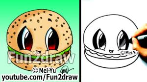 kawaii food drawing tutorial hamburger best drawing channel