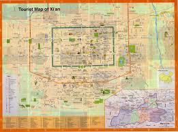 Maps Of China by Xi U0027an Travel Maps Printable Hi Res Tourist Map Of Xian China