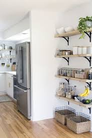 Kitchen Decor Ideas Pinterest Best 25 Kitchen Wall Shelves Ideas On Pinterest Shelving Designs