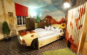 themed rooms amazing car themed rooms v8 hotel travel destination alux