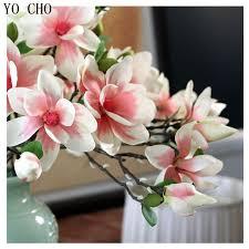 magnolia flowers yo cho 81cm 3 color 3pcs lot large decorative flower