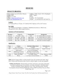 Sample Resume Format For Fresh by Best Resume Format For Fresher Software Engineers Freshers It Free