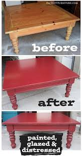 barn red chunky coffee table before u0026 after coffee tables