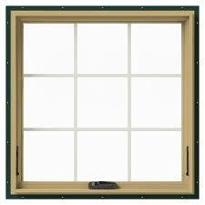 Aluminum Clad Exterior Doors Jeld Wen 36 In X 36 In W 2500 Awning Aluminum Clad Wood Window