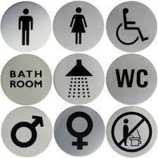 Bathroom Sign Language Word Choice
