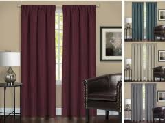 Wine Colored Curtains Rod Pocket Curtains Valances 4 Less Shop Now To Save
