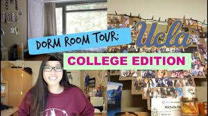 ucla dorm room tour single room michelle tran youtube