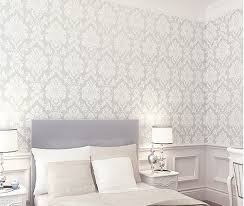 beige white 10m pvc europe embossed texture traditional damask