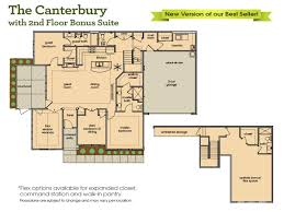 the canterbury with upstairs bonus suite home builders in
