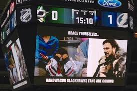 Blackhawks Meme - dallas stars troll fans wearing other teams jerseys