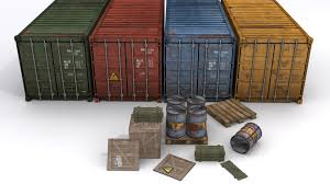 Barn Prop Cargo Prop Asset Set For Games By Cpalmroos 3docean
