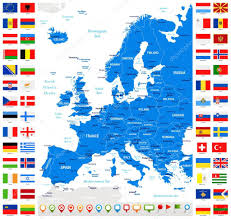 European Flags Images Map And Flags Of Europe Full Vector Collection U2014 Stock Vector