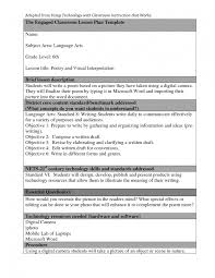 writing lesson plan template lesson plan template 6 everyday