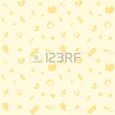 light yellow baby background with symbols of the newborn baby light yellow color