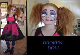 Broken Doll Halloween Costume Broken Doll Halloween Arts Crafts Diy