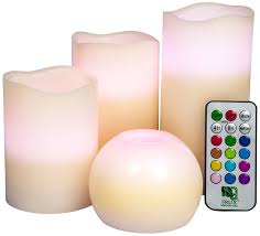Home And Decor by Amazon Com 4 Pack Flameless Candles Flickering Battery Powered
